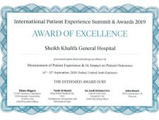 Receive an award in relation to the measurements of patient experience